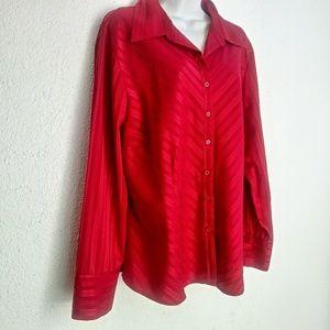 Covington blouse color red size 18W